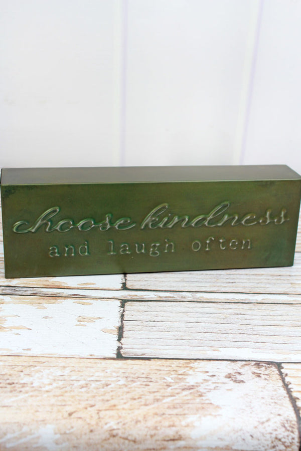 4 x 12 'Kindness' Punched Metal Block Sign