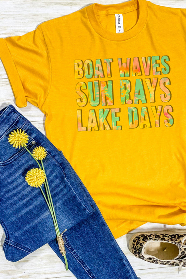 Lake Days Tie Dye Unisex Blend Tee