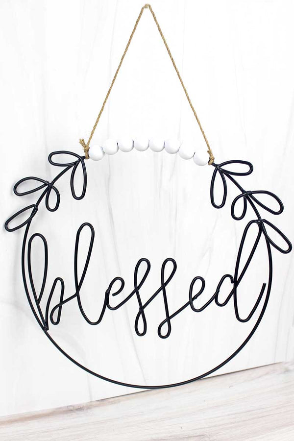 12.5 x 14 'Blessed' Cut-Out Metal Wall Sign