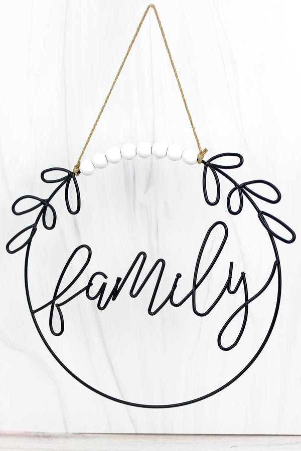 12.5 x 14 'Family' Cut-Out Metal Wall Sign
