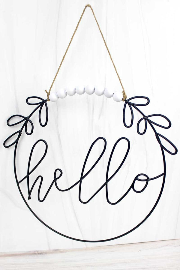 12.5 x 14 'Hello' Cut-Out Metal Wall Sign
