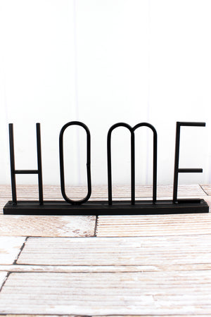 8 x 18 'Home' Metal Tabletop Word Sign