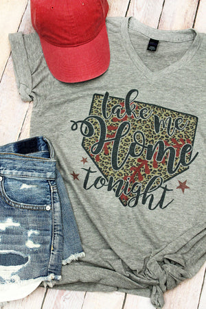 Take Me Home Tonight Unisex Poly-Rich Blend V-Neck Tee