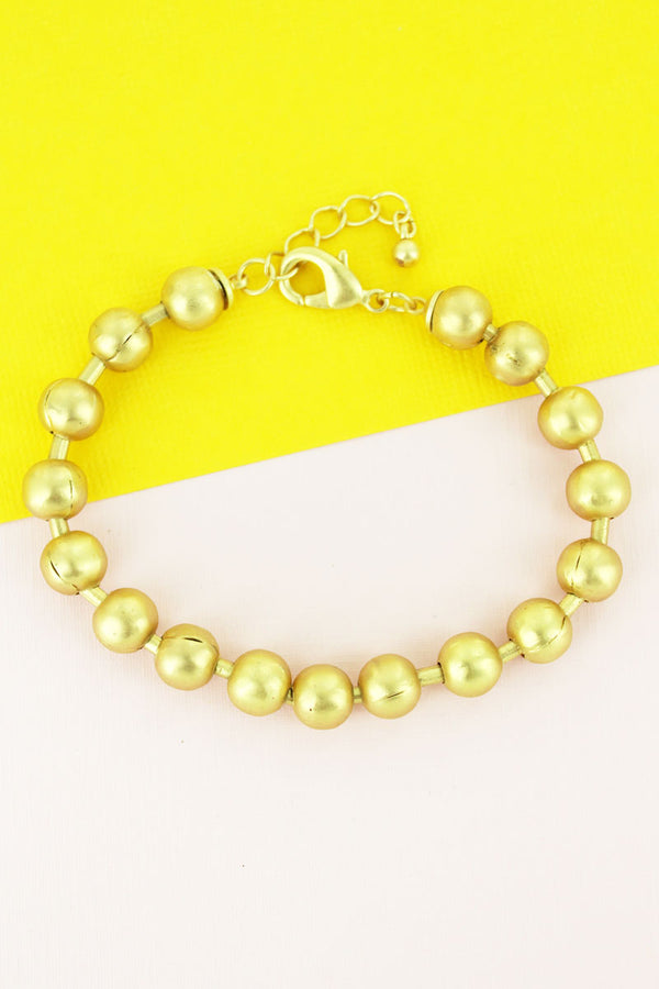 Goldtone Ball Bead Bracelet