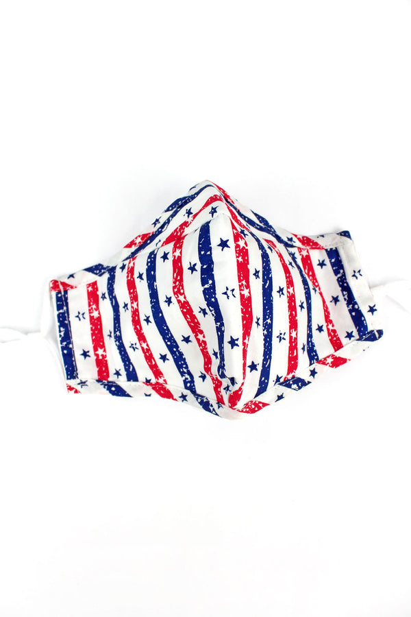 Stars & Stripes Two-Layer Fashion Face Mask with Filter Pocket