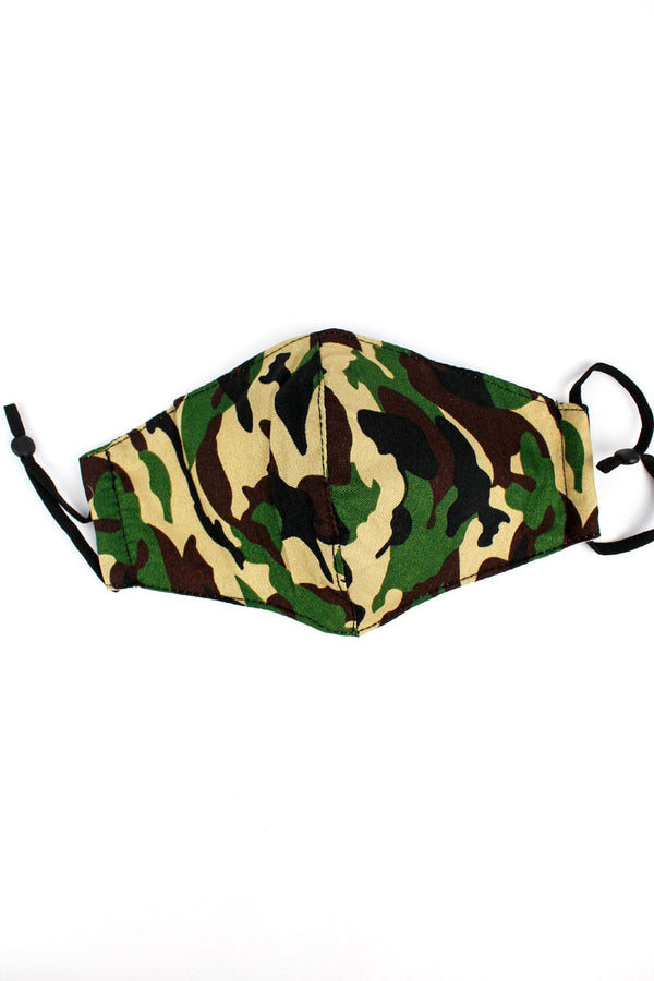 Camo Two-Layer Fashion Face Mask
