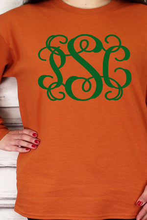 Shades of Orange Ultra Cotton Adult Long Sleeve T-Shirt *Personalize It!