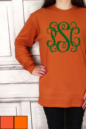Shades of Orange Ultra Cotton Adult Long Sleeve T-Shirt #2400 *Personalize It!
