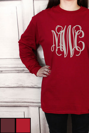 Shades of Red Ultra Cotton Adult Long Sleeve T-Shirt #2400 *Personalize It!