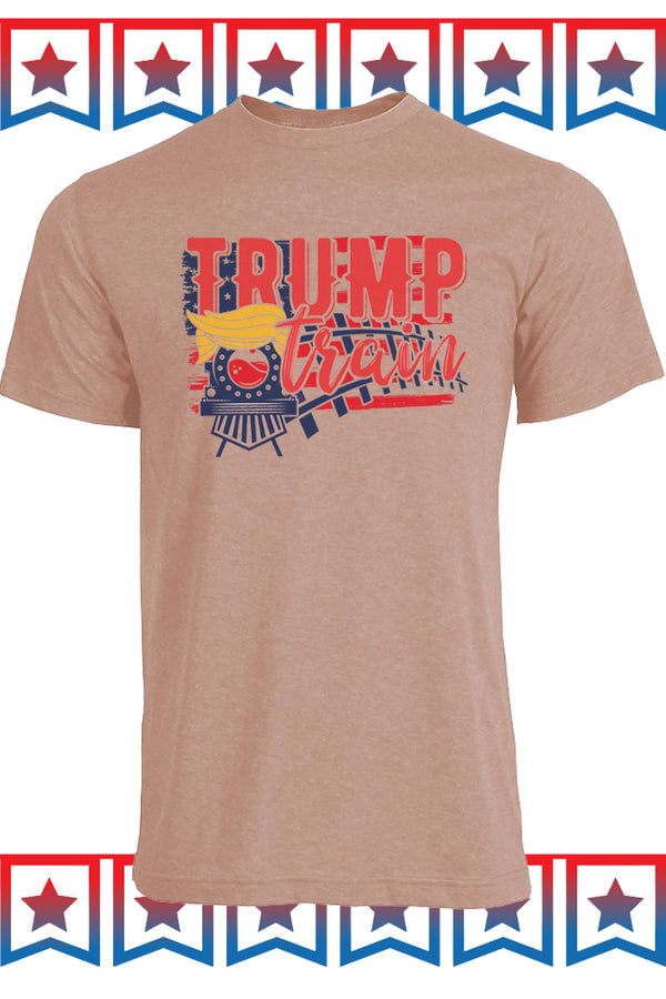 Trump Train Tracks Unisex Blend Tee
