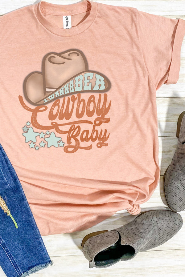 Wanna Be A Cowboy Baby Unisex Blend Tee