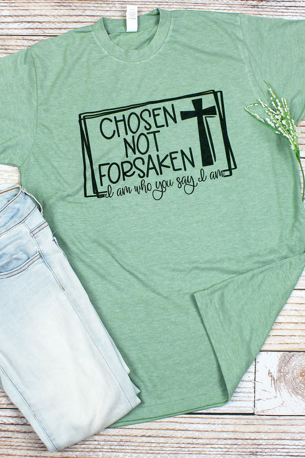 Cross Chosen Not Forsaken Unisex Blend Tee
