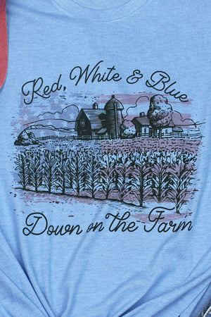 Down On The Farm Patriotic Unisex Blend Tee