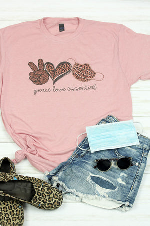 Peace Love Essential Leopard Unisex Blend Tee