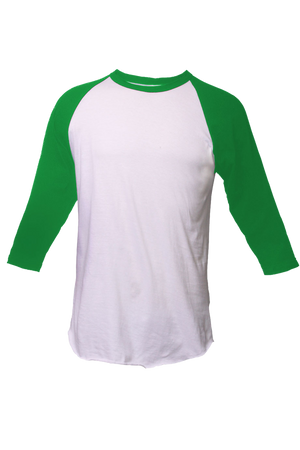 Tultex Unisex Fine Jersey Raglan Tee, White/Kelly *Personalize It!