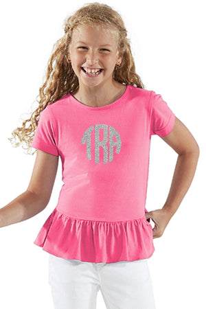 L.A.T. Girl's Fine Jersey Ruffle Tee *Personalize It