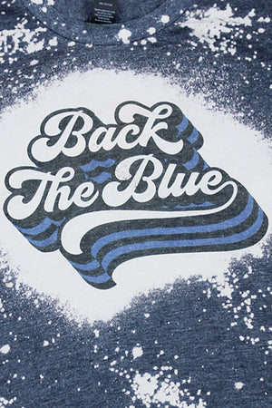 Bleached Back The Blue Youth Poly-Rich Blend Tee