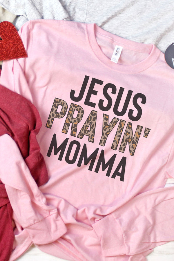 Jesus Prayin' Mama Unisex Dri-Power Long-Sleeve 50/50 Tee
