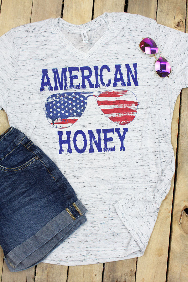 American Honey Unisex V-Neck Tee