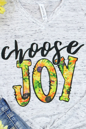 Choose Joy Unisex V-Neck Tee
