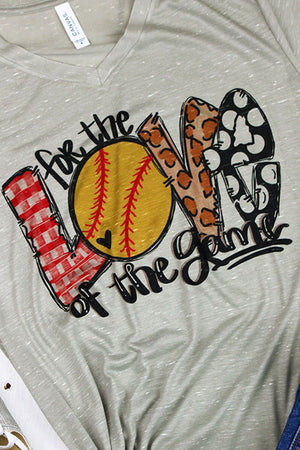 Softball Love Of The Game Leopard Unisex V-Neck Tee