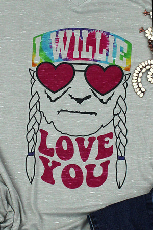 I Willie Love You Unisex V-Neck Tee