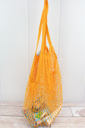 Yellow Net Seashell Bag