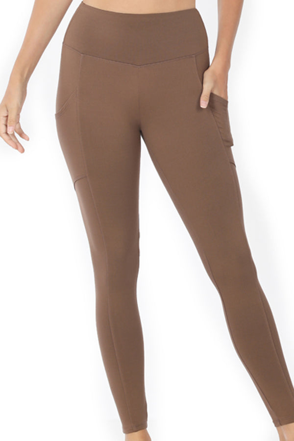 Mocha Brushed Full Length Butter Leggings