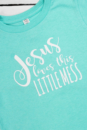 Jesus Loves This Little Mess Toddler Fine Jersey Tee #3321