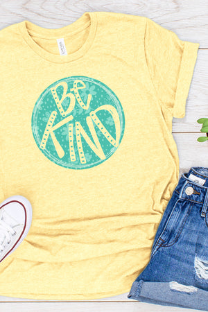 Circle Be Kind Tri-Blend Short Sleeve Tee