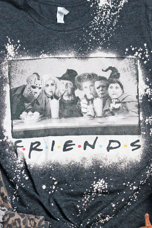 Bleached Halloween Friends Unisex Short Sleeve T-Shirt