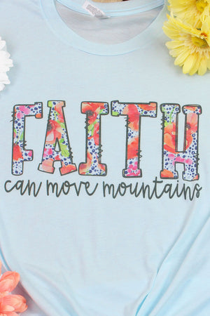 Faith Can Move Mountains Tri-Blend Short Sleeve Tee