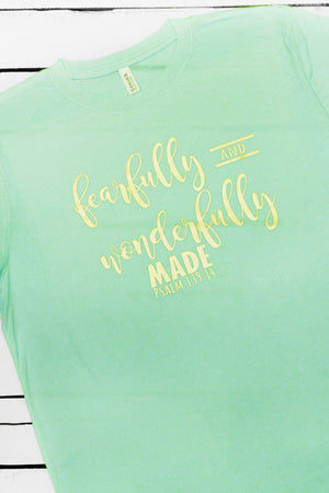 Fearfully and Wonderfully Made Unisex Tri-Blend Short Sleeve Tee #3413