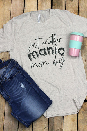 Manic Mom Day Tri-Blend Short Sleeve Tee