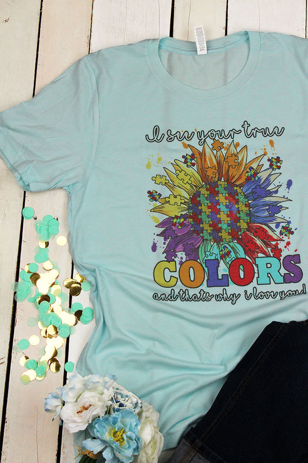 True Colors Autism Tri-Blend Short Sleeve Tee