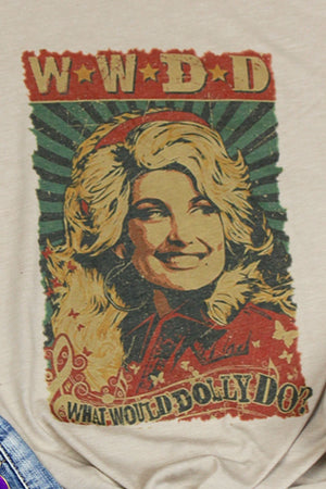 Vintage What Would Dolly Do Tri-Blend Short Sleeve Tee