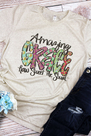 Amazing Grace Watercolor Tri-Blend Short Sleeve Tee
