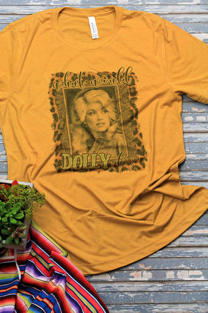 What Would Dolly Do? Tri-Blend Short Sleeve Tee