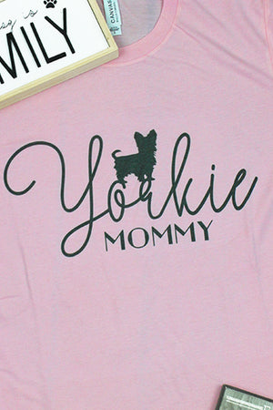 Yorkie Mommy Tri-Blend Short Sleeve Tee