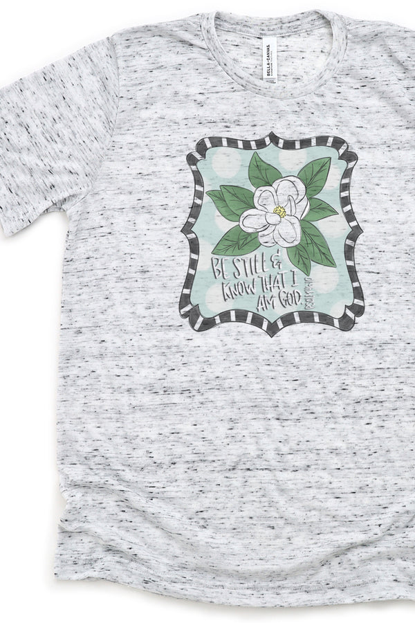 Magnolia Be Still And Know Unisex Short Sleeve Tee