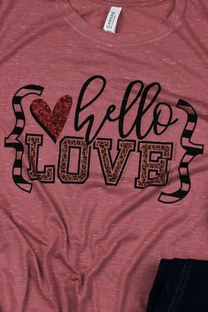 Hello Leopard Love Unisex Short Sleeve Tee