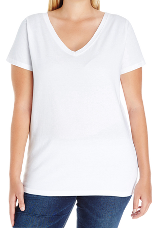 L.A.T. Ladies Curvy V-Neck Tee