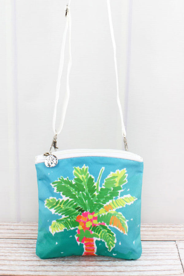 Palm Tree Beach Break Small Crossbody Bag