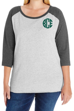 L.A.T. Ladies Curvy Baseball Tee *Personalize It