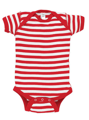 Rabbit Skins Striped Infant Onesie *Personalize It