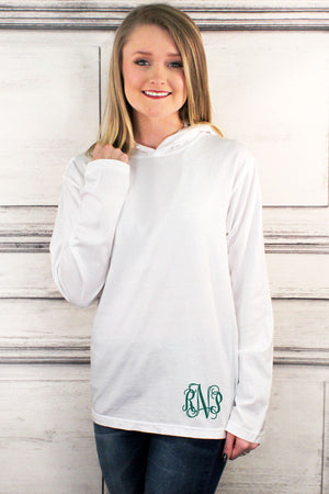 Shades of Neutral Comfort Colors Long Sleeve Hooded Tee #4900 *Personalize It