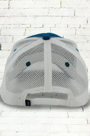 Seaport and White Contrast Mesh Trucker Cap #50004