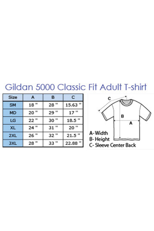 Gildan Short Sleeve Relaxed Fit T-Shirt #5000