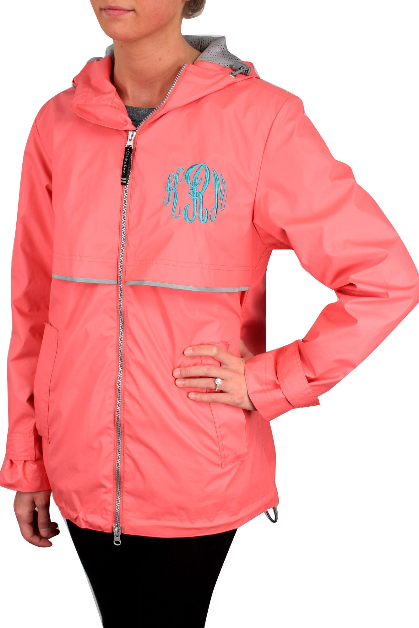 29f13a97a Charles River Women's New Englander Coral Rain Jacket *Customizable!