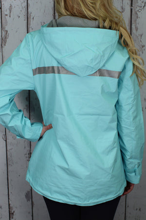 Charles River Women's New Englander Aqua Rain Jacket #5099 *Customizable!